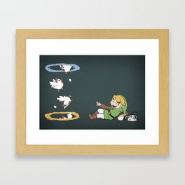 Thinking With Chickens Framed Art Print