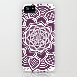 Purple Mandala iPhone Case