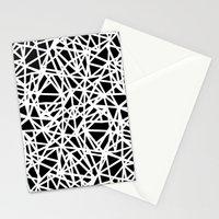Ab Upside down Black Stationery Cards
