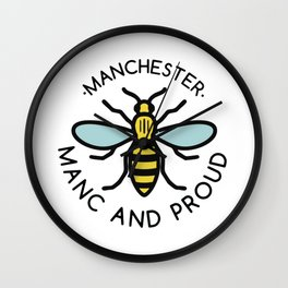 Manchester Bee Wall Clock