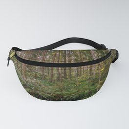 Morning sun in a wilderness forest Fanny Pack