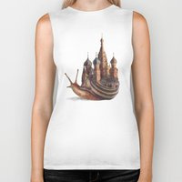 trippy Biker Tanks featuring The Snail's Daydream by Eric Fan