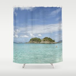 Clear Waters of St John Shower Curtain