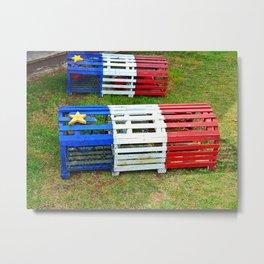 Acadian Lobster Traps Metal Print