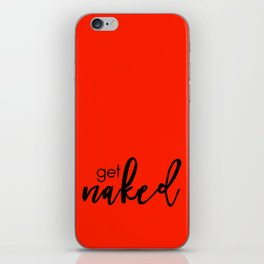 Get Naked // Black on Red iPhone Skin