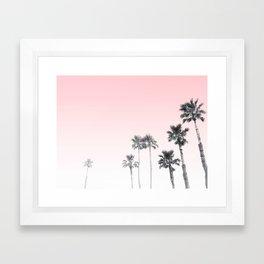 Tranquillity - pink sky Framed Art Print