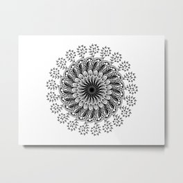 Mandala Foliage Beauty Metal Print