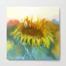 Sunflower Glow Artwork Metal Print