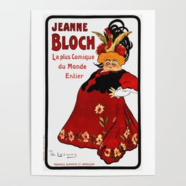 Vintage French Ad - Jeanne Bloch Poster