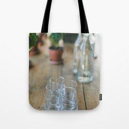 Wood Grain & Glasses  Tote Bag