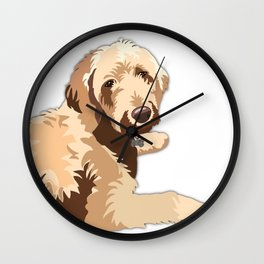 Golden Doodle Wall Clock