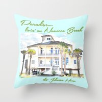 allyson johnson Throw Pillows featuring Johnson Home by Cheryl Burkhardt