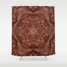 Hardwood Hill Brown Kaleidoscope Shower Curtain