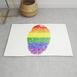 LGBT Pride Fingerprint (Gay Pride) Rug