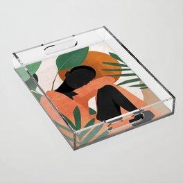 Tropical Girl 10 Acrylic Tray