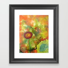 Faces In The Cloud Framed Art Print