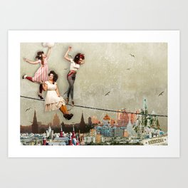 They will never go to Moscow. Art Print