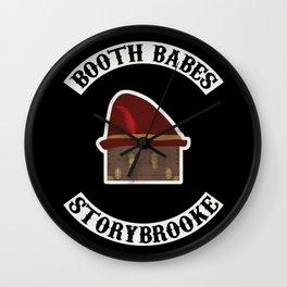 Booth Babes (Fake Motorcycle Club) Wall Clock