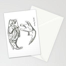 Common Muskrat Skull Stationery Cards
