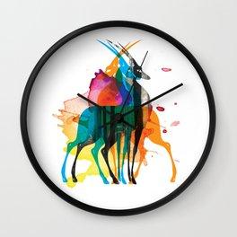 Gazelle Art Print Wall Clock