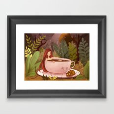 A cup of hot chocolate Framed Art Print
