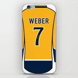 Yannick Weber Jersey iPhone Skin
