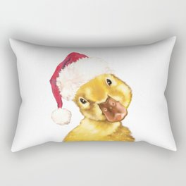 Christmas yellow duckling Rectangular Pillow