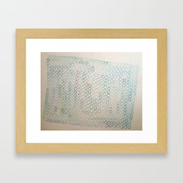 GREEN FLOWERS Framed Art Print