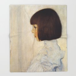 Gustav Klimt - Portrait of Helene Klimt Throw Blanket