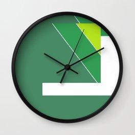 Greens Pattern Wall Clock