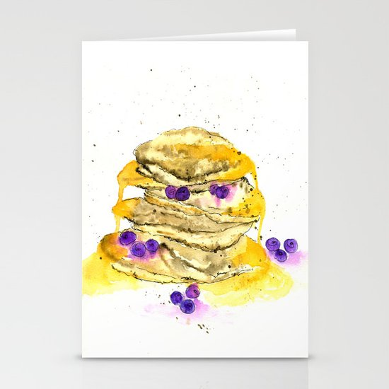 fluffy pancake Stationery Cards