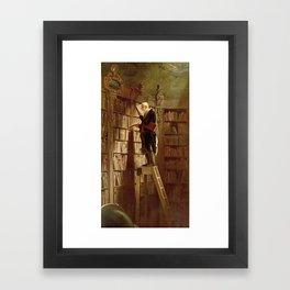 """""""The Bookworm"""", 1850 Framed Art Print"""