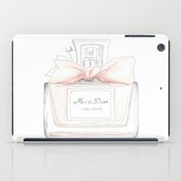 perfume iPad Cases featuring Miss Perfume  by Huda Mulla