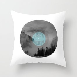 Music Is Medicine Throw Pillow