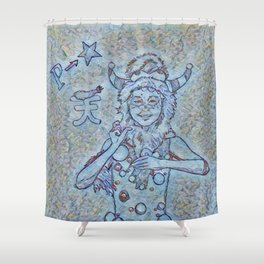 Ao P-Chan Shower Curtain