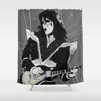 spaceman Shower Curtains featuring Spaceman by Ed Pires