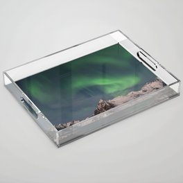 Northern Lights Over Lofoten Acrylic Tray