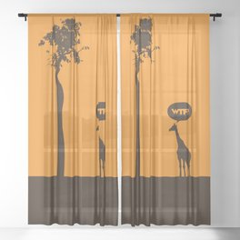 WTF? Jirafa! Sheer Curtain