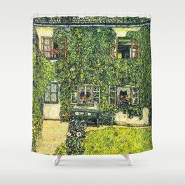 Ivy Covered Chateau - Gustav Klimt Shower Curtain