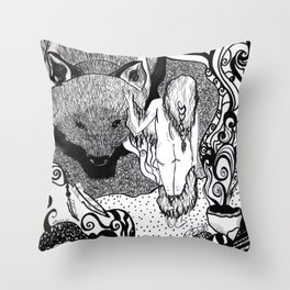 Bear Bride Throw Pillow