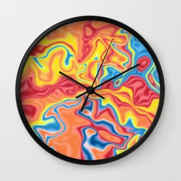 Liquid shapes 6 Wall Clock