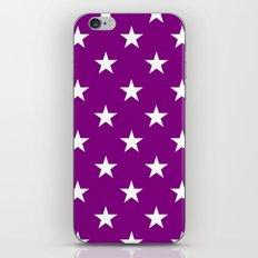 Stars (White/Purple) iPhone & iPod Skin