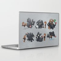 hiccup Laptop & iPad Skins featuring How Not to Train Your Dragon by Dooomcat