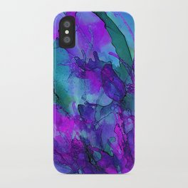 Alcohol Ink Flowers 2 iPhone Case