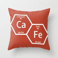 cafe Throw Pillows featuring CaFe by Rhodium Clothing