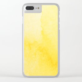 Sunshine Watercolor Clear iPhone Case