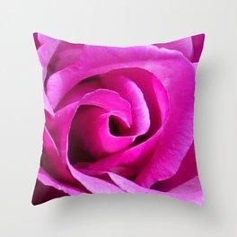 Fuschia Rose Throw Pillow