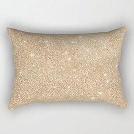 Gold Glitter Chic Glamorous Sparkles Rectangular Pillow