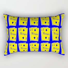 A-DUECE MICHIGAN PLAYING CARD Rectangular Pillow