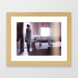 Winking Lights Framed Art Print